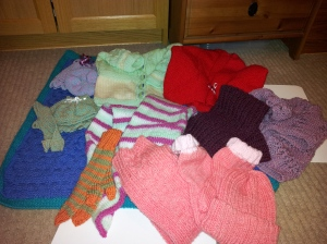 A collection of my knitted items