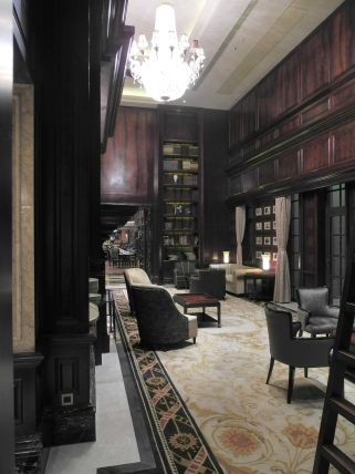 The wonderful library room in our Ruijin Hotel.