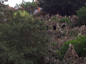 Climbing up gulang yu garden