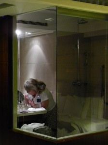 Example of a hotel bathroom