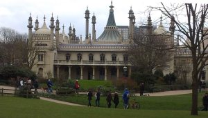 Brighton Pavilion from the Pavilion Gardens