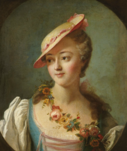 A portrait of the marquise de Pompadour